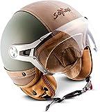 "Soxon® SP-325 Urban ""Green"" · Jet-Helm · Motorrad-Helm..."