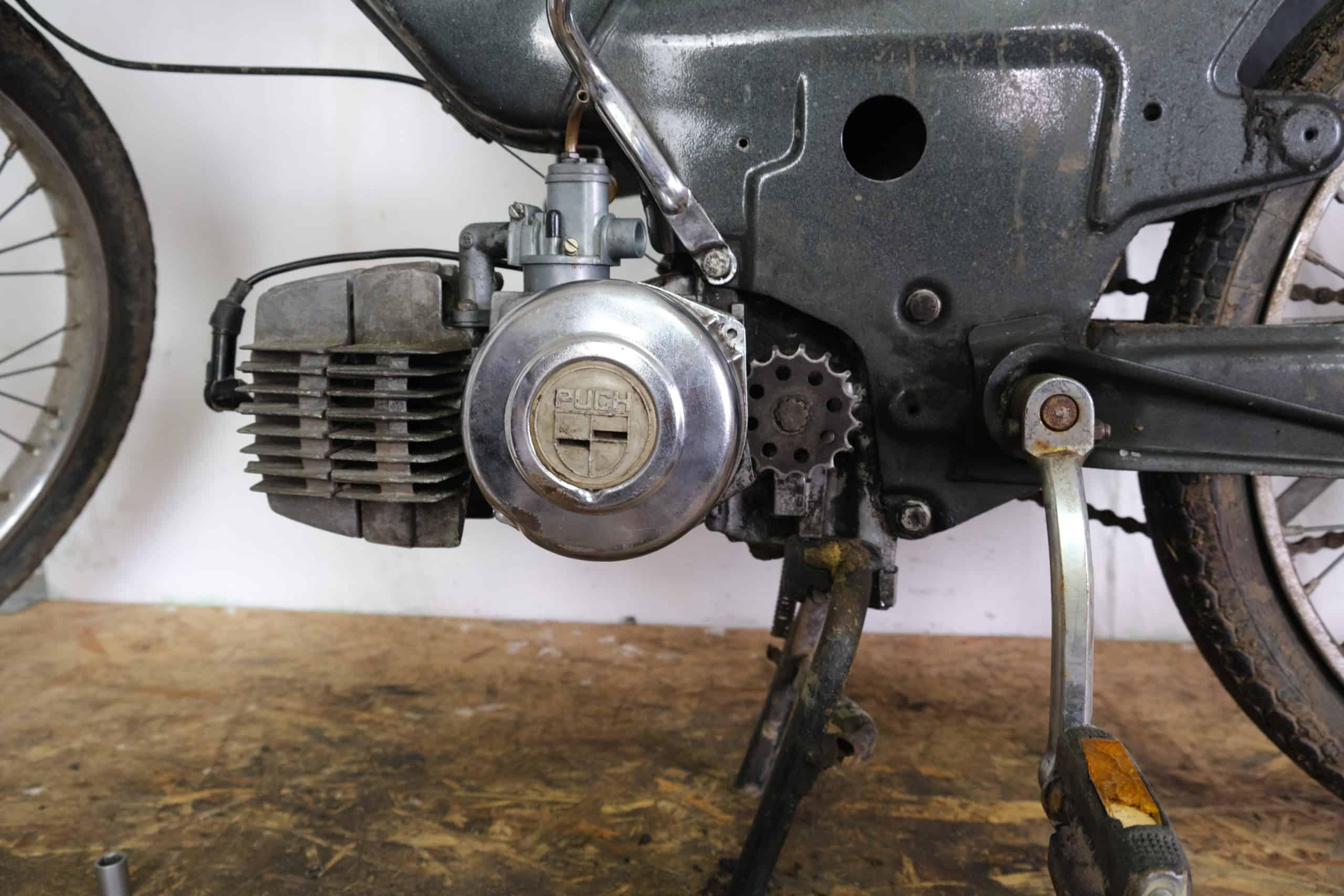 Puch maxi s e50 motor eingebaut